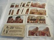 1925 Colortype Stereograph Cards W Sleeve 25 Stereoview Cards Crucifixion Rare