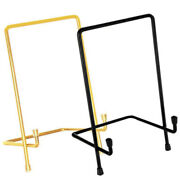 Pedestal Iron Display Stand Art Picture Frames Tablets Easel Plate Photo Holder