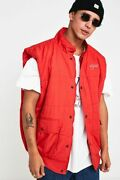 Urban Renewal Red Bodywarmer Gilet Size Small Mens Salvaged Deadstock