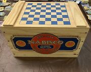 Nabisco National Biscuit Company Wooden Crate - Antique Style Collectible Box