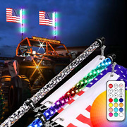 Teochew-led 2pcs 2ft Led Whip Lights With Rf Remote Spiral Rgb Chase/dancing Led