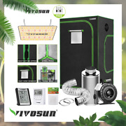Vivosun 3andlsquox3andrsquo Grow Tent With 4 Inline Fan+4carbon Filter+48ft Ductingvs 1000w