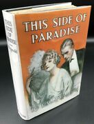 This Side Of Paradise F. Scott Fitzgerald True First 1st/1st Edition 1920