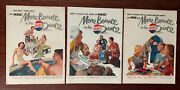 Pepsie Cola 1950andrsquos Print Ad Lot Of 3 Swimming Barbecue Pool Picnic More Bounce