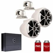 Wet Sounds Icon8w-smini 8 White Stainless Steel Mini Swivel Clamp Syn-dx2 Amp