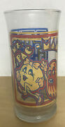 Vintage 1982 Pac-man Ms Pacman Drinking Glass Bally Midway 5.5