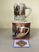 World Famous Budweiser Clydesdales On Parade Stein By Ceramarte