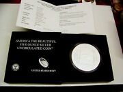 Atb 2013 Five Ounce Silver Uncirculated Coin White Mtn. Natand039l Forest - Nh 0.999
