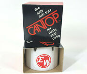 Lot Of 2 Vintage Cantop Ash Tray For Beer Soda Pop Can White