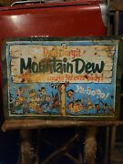 Vintage Old Mountain Dew Soda Metal Sign Gas Oil Advertising Store Cola
