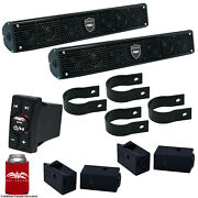 Wet Sounds Two Stealth 6 Surge Amplified Soundbars 1.75 Hardware Remote
