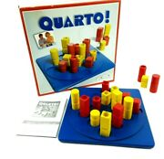 Vintage 1991 Quarto Gigamic Board Game Puzzle Strategy 16 Pieces All Wood Set