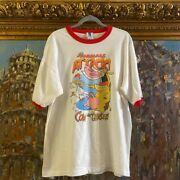 Rare Vintage 90s Cow And Chicken Six Flags Cartoon Network Ringer Tee