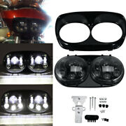 Motorcycle Projector Dual Led Headlight For Harley Road Glide 2004-2013 2010
