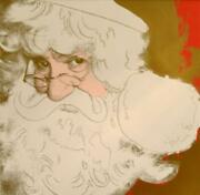 Holidy Special Andy Warhol Santa Claus 1981 Silkscreen With Diamond Dust