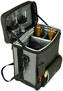 D Wine And Cheese Cooler Tote, Picnic Backpack Bag, For Outdoor Gary