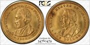 1905 Gold 1 Lewis And Clark Pcgs Ms64 Rare Gold Commemorative