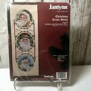 Janlynn Counted Cross Stitch Kit Father Christmas Bell Pull 7 X 19 Sealed 125-34