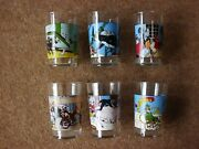 Lovely Tintin Glasses - Amora 1974 Complete Set Of 6 - Very Rare