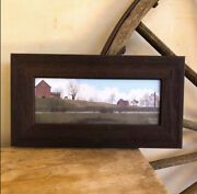 Farmhouse Rustic Framed Picture Ranch Horse Art Andldquorural Routeandrdquo Billy Jacobs Usa