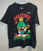 Vintage 1993 Marvin The Martian Loony Tunes Galveston Island T-shirt Size Large