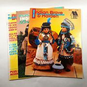 Vtg '76 Mccall's Barbie Fashions Patterns '90's Native American Instructions