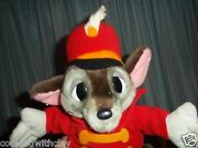Vintage Disney Toy Timothy Q. Mouse Dumbo Plush Doll Figure Band Leader Mouse