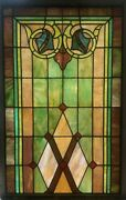 Antique C1920 Large Monumental Slag And Stained Glass Window Church Restored