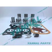 Mitsubishi L3e Overhaul Kit With Valve And Guide And Seat And Rod Bearing Pin-18mm