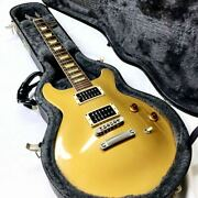 Gibson Les Paul Classic Dc Gold Top Electric Guitar 6 String S/n 0066j515