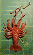 Vintage 1970's-80's Made In Hong Kong Rubber Oily Jiggler Lobster Crayfish