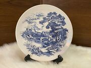 Vintage China Enoch Wedgewood And Company Countryside Dinner Plate Blue White