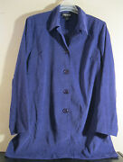 Briggs L Blazer Jacket New Purple Nice Color And Trendy Long Length D80
