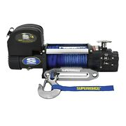 Superwinch 9500 Lbs 12 Vdc 3/8/in 80ft Synthetic Rope Talon 9.5sr Winch 1695201