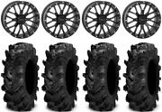 System 3 St-3 Bk 18 Wheels 34 Cryptid Tires Can-am Renegade Outlander