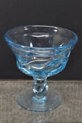 2 Piece Lot Fostoria Jamestown Blue Water Goblet And Champagne/sherbet Glass