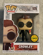 Funko Pop Good Omens Crowley With Popsicle Chase 1078 In Protector