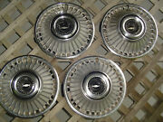 4 Vintage 1963 1964 Chevrolet Chevy Belair Impala Corvair Hubcaps Wheel Covers