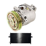 Ac Compressor W/ A/c Condenser And Drier For Nissan Frontier Xterra 2003 2004