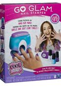 Go Glam Nail Stamper, Cool Maker, Bring The Salon Home, Decorate A 125 Nails.
