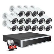 Annke 12mp 32ch Nvr Poe 4k 8mp Video Security Camera Camera H.265+ Outdoor Ip67