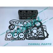 New China 3 Cylinders Diesel Engine Part D1302 Cylinder Head And Full Gasket Set