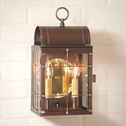 Sophisticated 2 Lights Toll House Wall Outdoor Lantern In Antique Copper Finish
