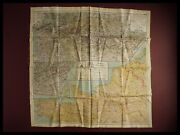 Wwii Royal Air Force Pilots Silk Escape / Evasion Map France Europe D-day 1943