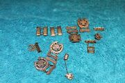 Lot Of 11 Ww2 Wwii Sterling Silver Usa Military Badges Pins