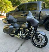 Charcoal Pearl Airbrushed Extended Saddlebag For 14+ Harley Street Electra Glide