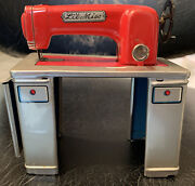 Vtg Painted Tin Toy Sewing Machine Japan Modern Toys Lil Miss
