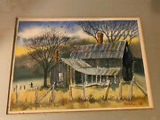 Original William Bill Kidwell Signed Watercolor Painting 1969 Farmhouse 18.75