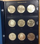 1971-1978 Eisenhower Dollar Complete Set Of 32 In New Whitman Album With Proofs