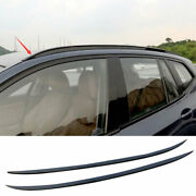 For Bmw X5 G05 2019-2021 Black Aluminum Top Roof Rack Luggage Carrier Rail 2pcs